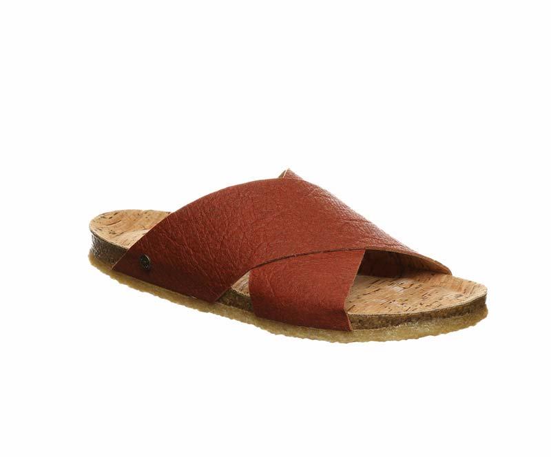 vegan slide sandals by Bearpaw