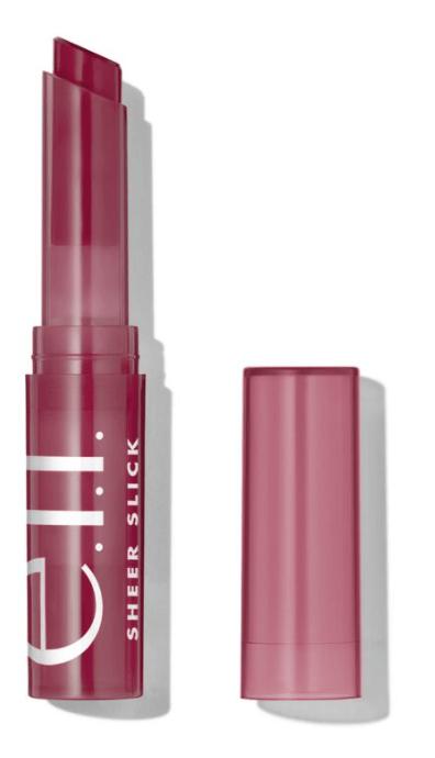 elf sheer slick lipstick in black cherry
